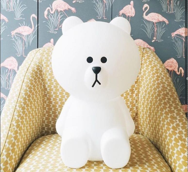 Nattlampa barnrum. Brown Bear lampa björnlampa Mr Maria.