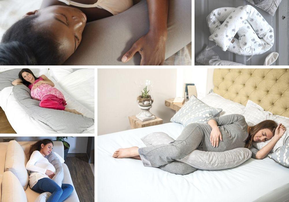 Stor skön gravidkudde, avlång sovorm. Sovkudde gravid. Sovtips gravid.
