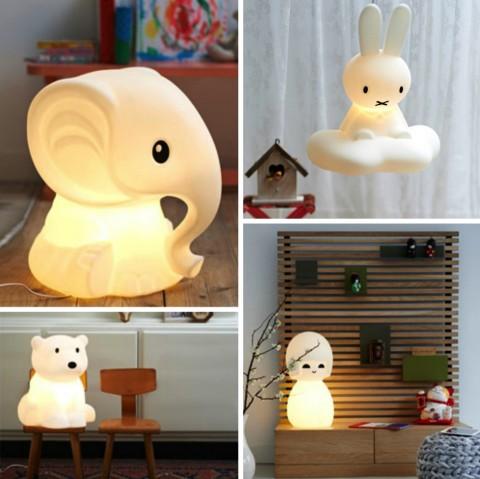 Mr Maria lampa Miffy, Brown Bear, Elefant, asiatisk tjej