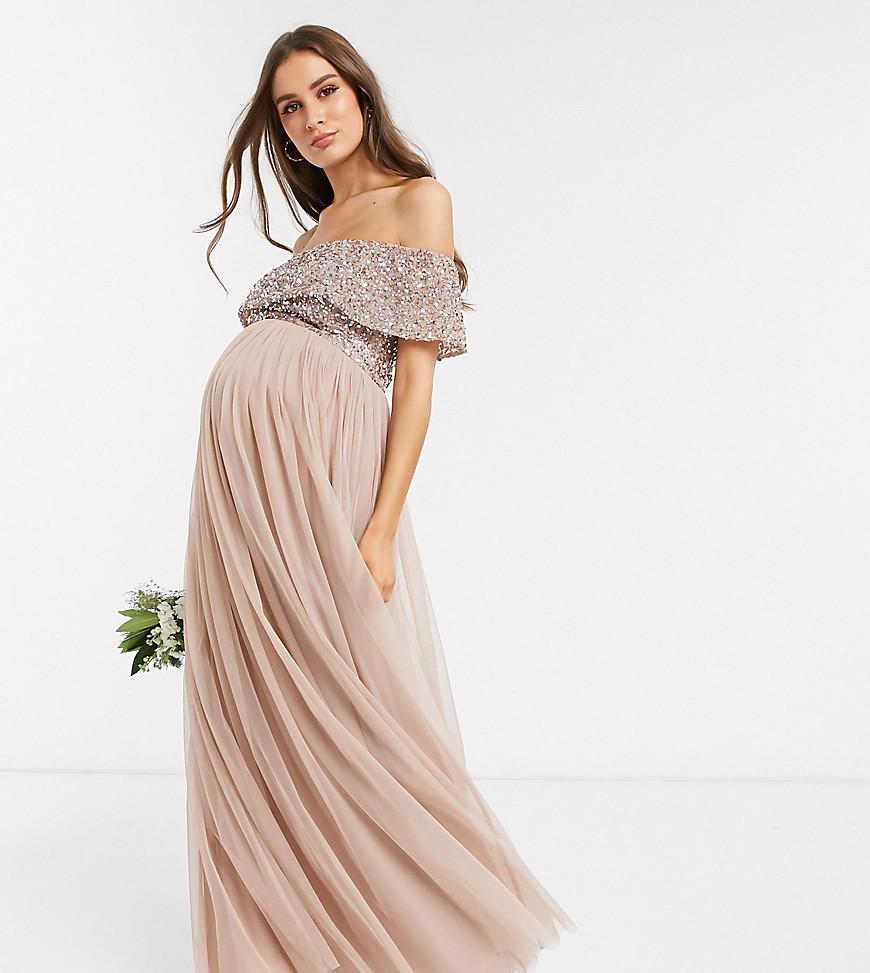 Bröllopsgäst gravid klänning