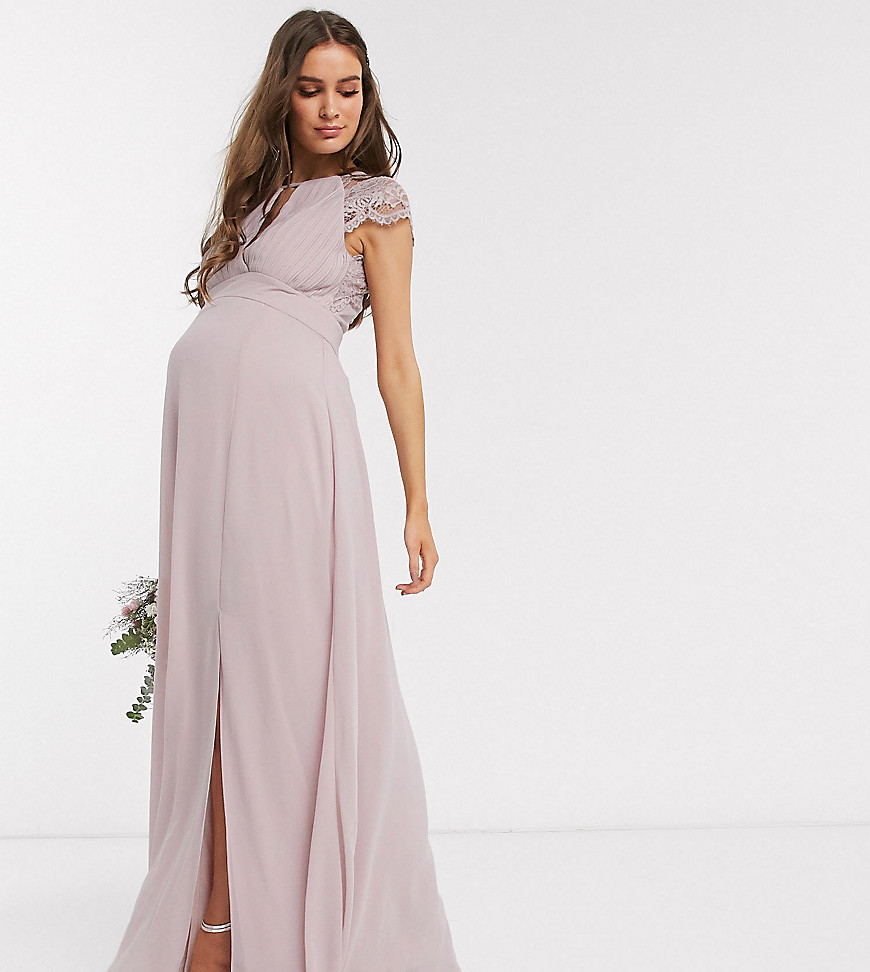 Lång gravidklänning bröllop