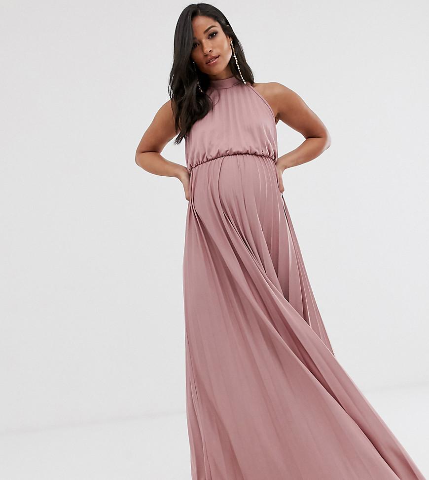 Rosa långklänning gravid fest