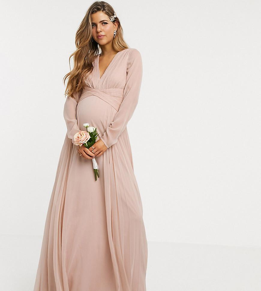 Gravidklänning fotografering bröllop