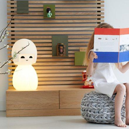 Kokeshi lampa nattlampa barnrum nattbelysning