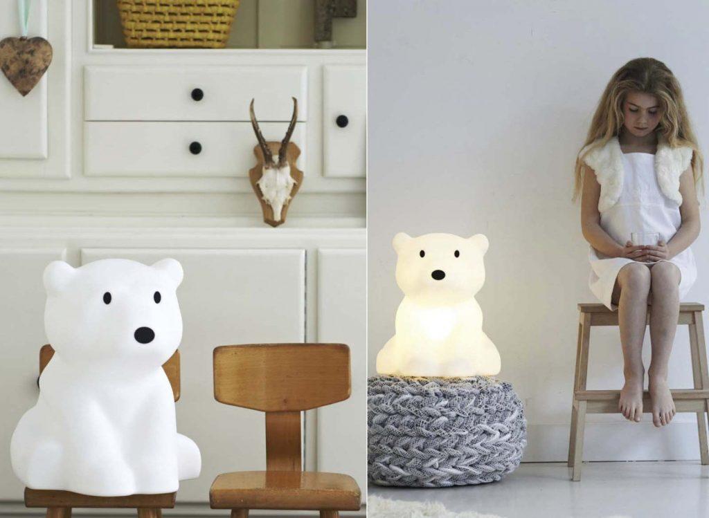 Mysig nattlampa barnrum Nanuk lampa isbjörn