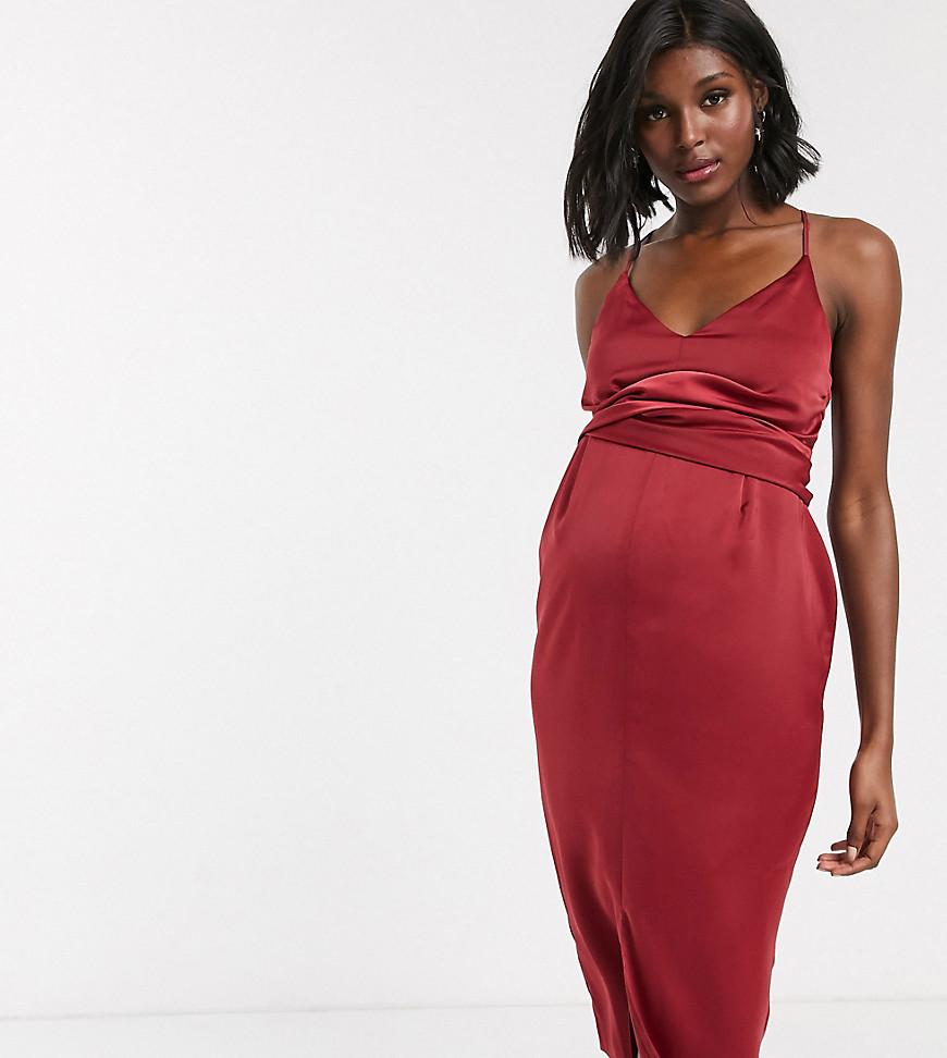 Fest gravidklänning som inte visar magen