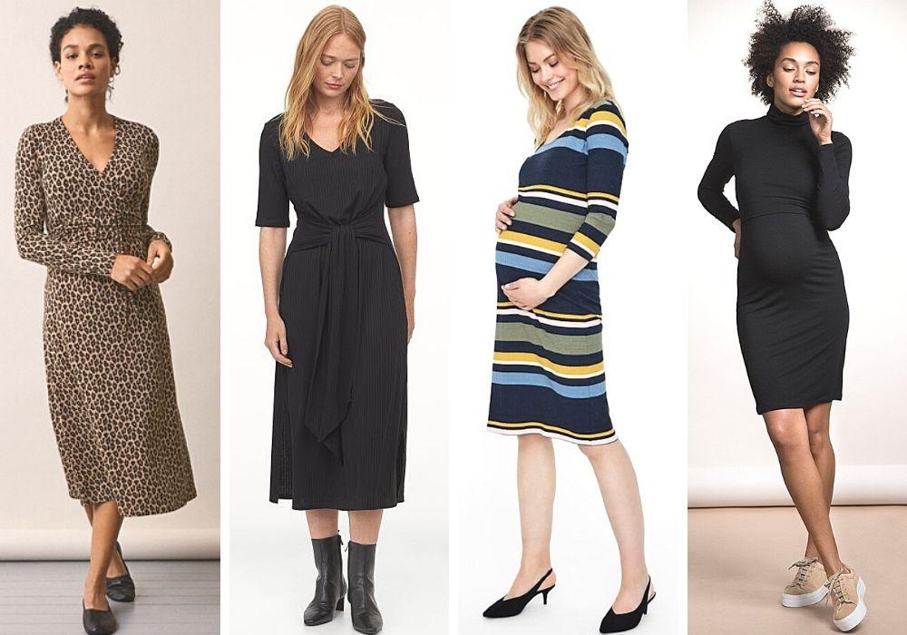 vinter mammaklänning höst gravid klänning
