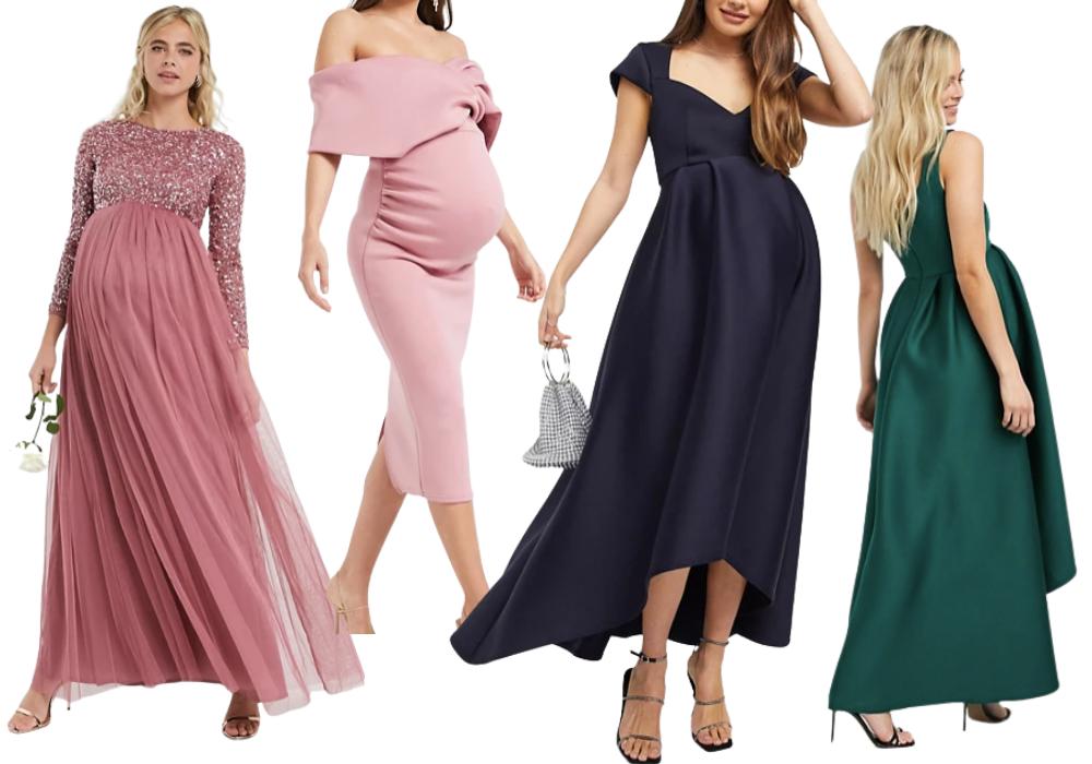 Festklänning gravid finklänning elegant gravidklänning