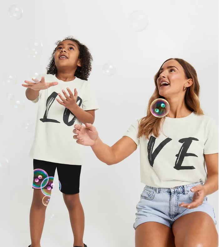 LOVE t-shirt mamma mini barn