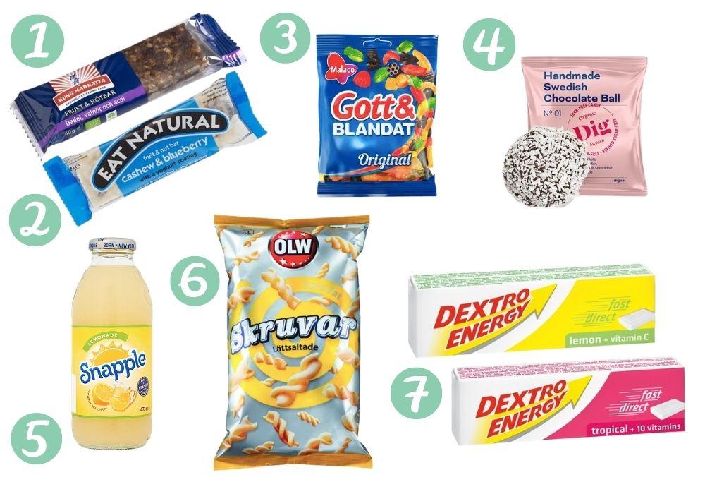 Ta med sig att äta förlossning snacks