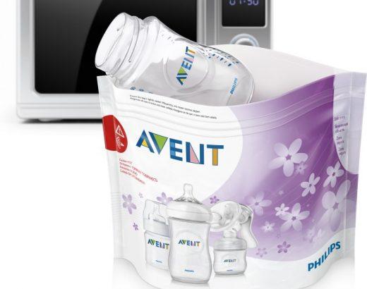 Sterilisera nappflaskor och nappar i mikron