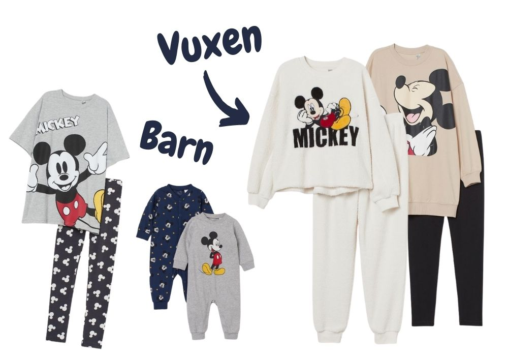 matchande pyjamas familj