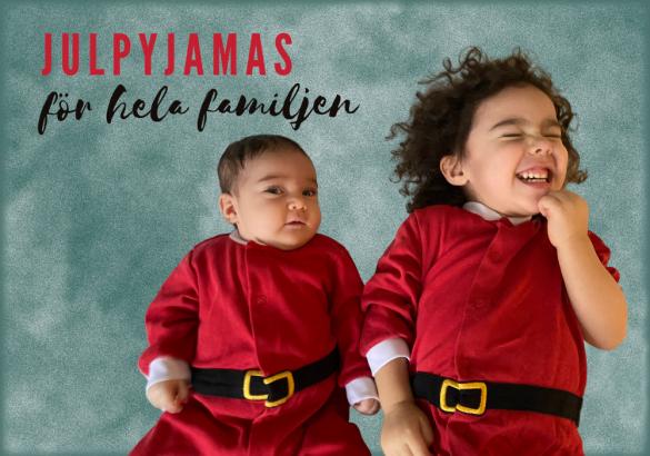 Julpyjamas familj barn föräldrar