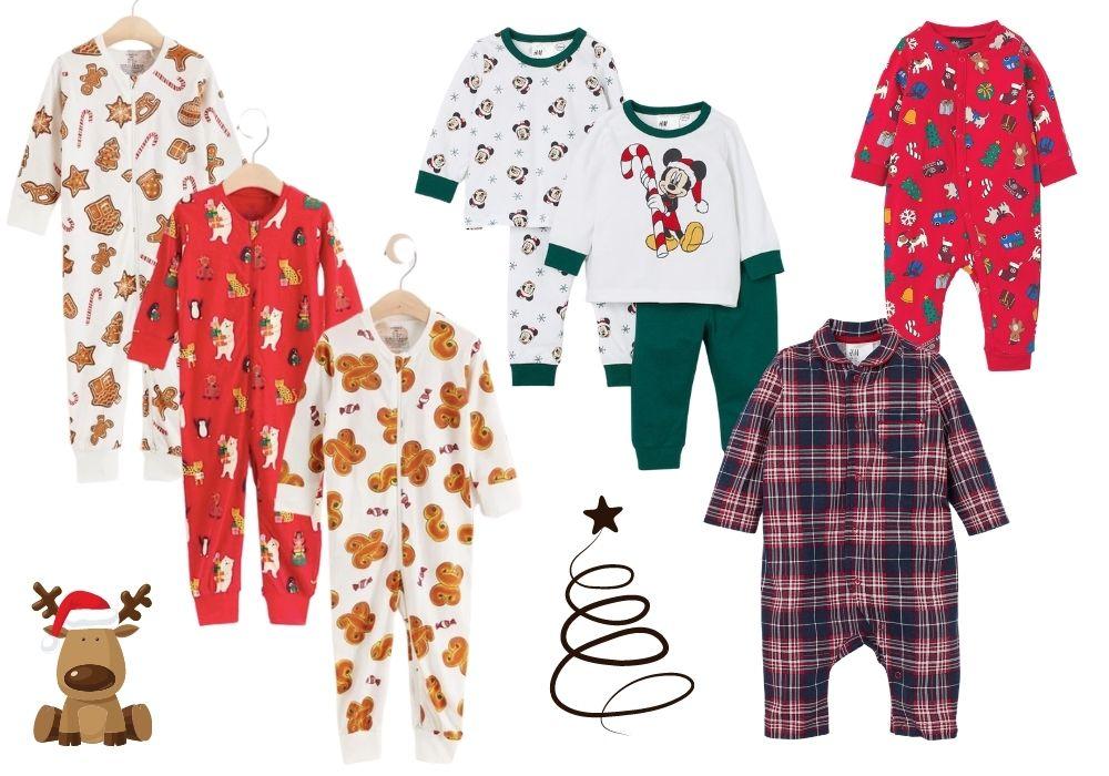 Julpyjamas baby nyfödd jul pyjamas