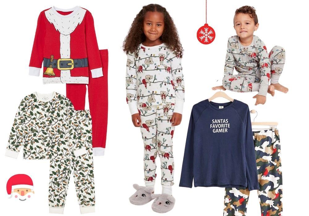 julpyjamas barn pyjamas julmotiv