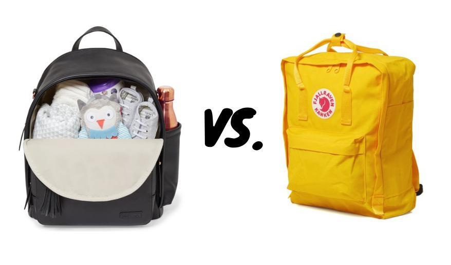 Vanlig ryggsäck vs skötväska ryggsäck