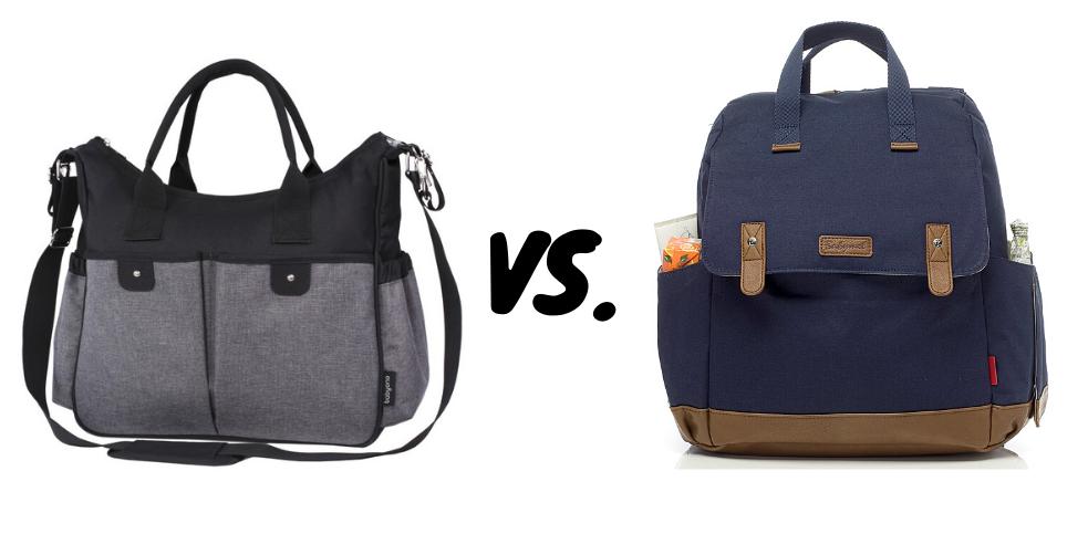 Vanlig skötväska vs skötväska ryggsäck