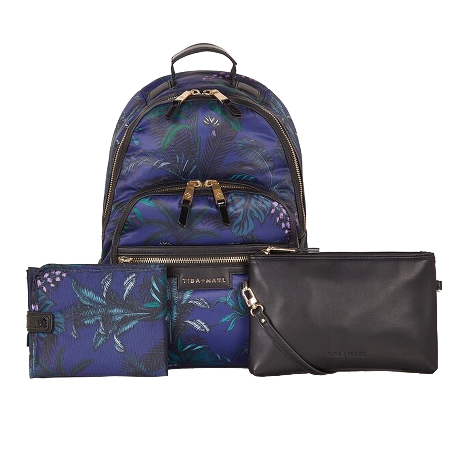 designer skötväska ryggsäck svart blå