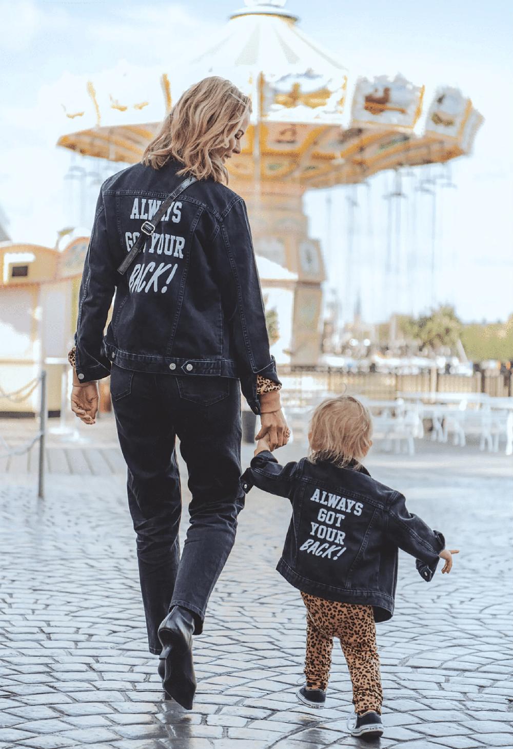 Margaux Dietz son Arnold matchande-jeansjackor-mamma-mini