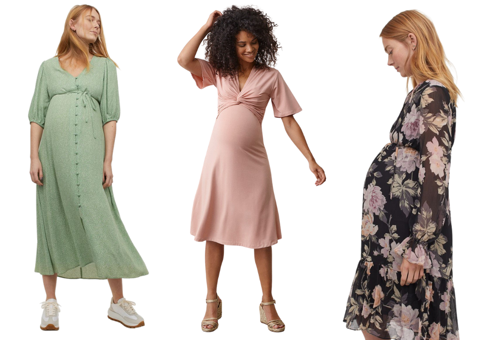Vår klänning gravid gravidklänning vårklänning