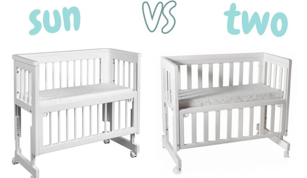 Troll bedside crib sun vs. two