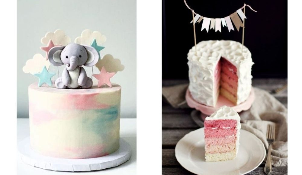 gender reveal tårta inspiration fyllning