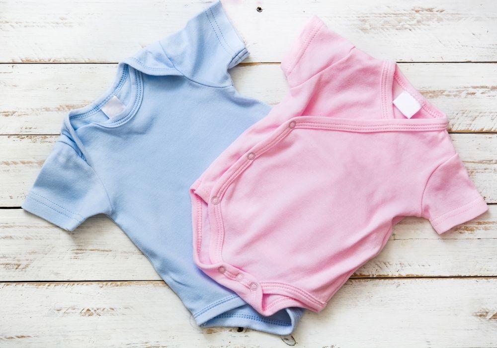 Blåa blått barnkläder rosa