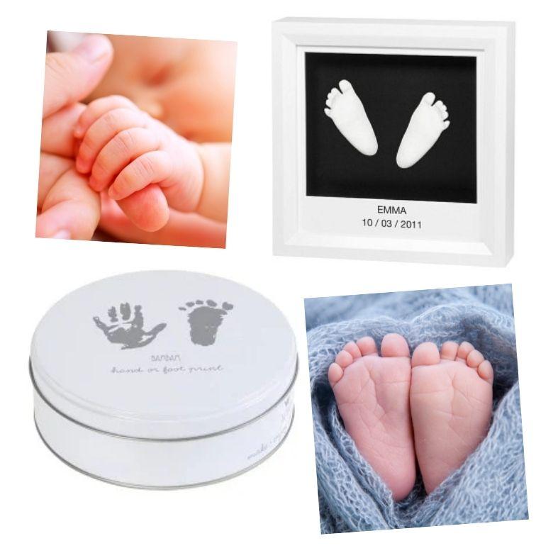 hand och fotavtryck bebis present