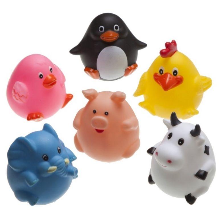 badleksaker djur badkar