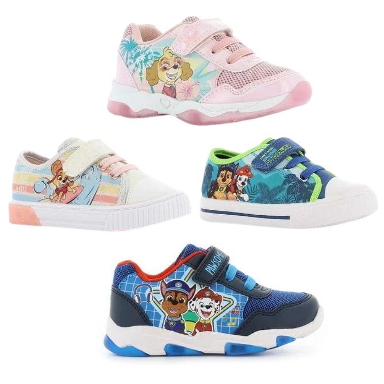 Blinkande skor barn Paw Patrol skor med blinkande sula