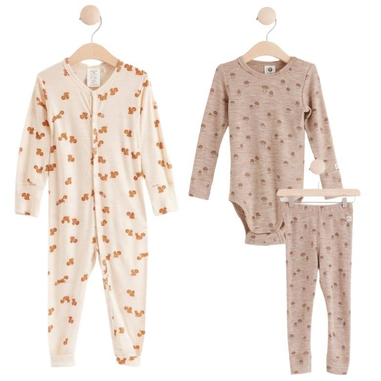 Ullkläder baby pyjamas yllekläder baby kläder ylle ull