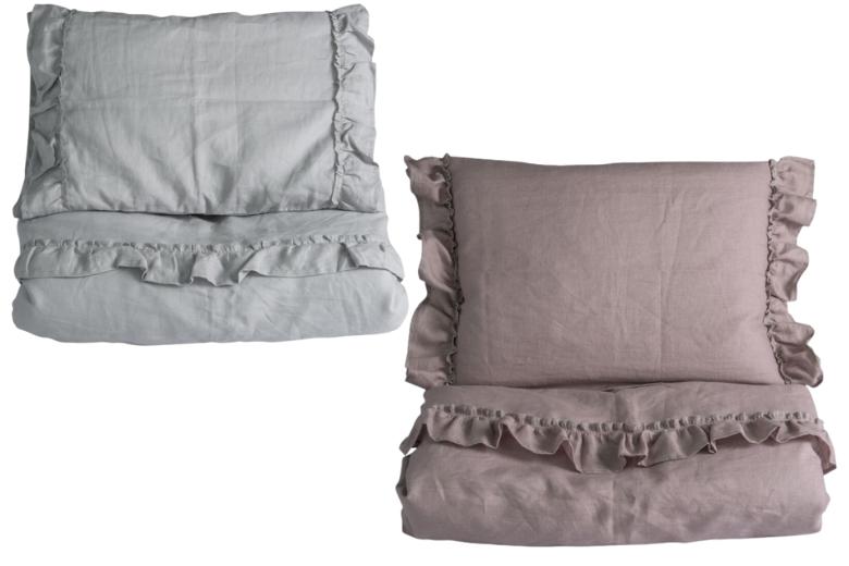 Ng baby mood ruffles sängkläder linne spjälsäng