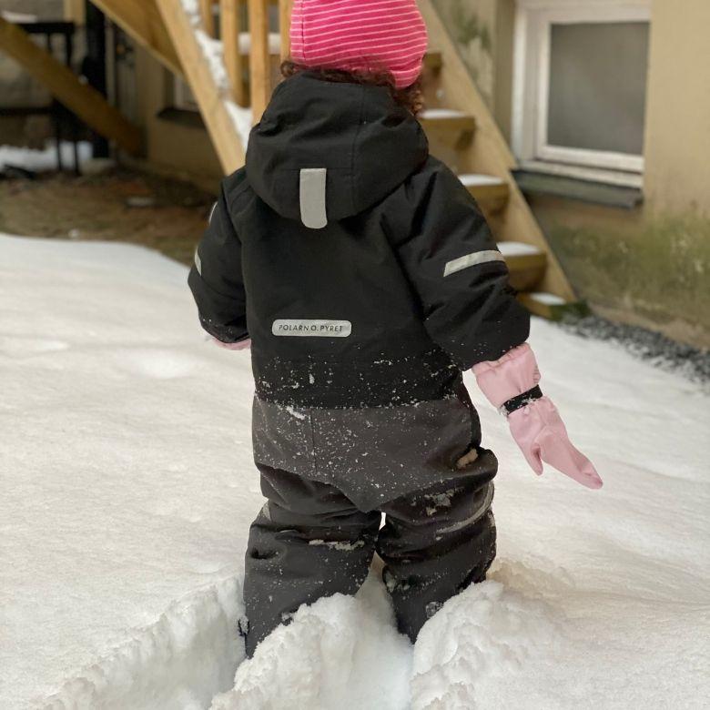 Polarn och pyret vinteroverall barn vattenpelare