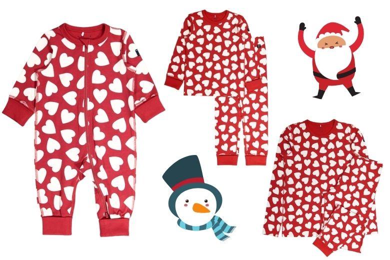 Pyjamas familj jul barn och vuxen