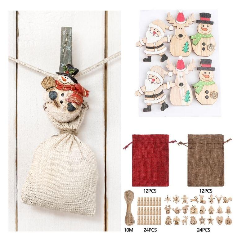göra egen julkalender adventskalender påsar kit diy
